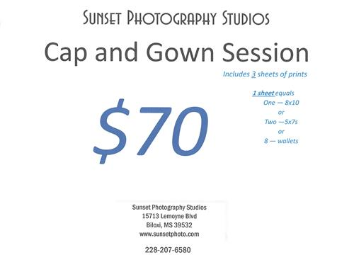 Cap and Gown Special from Sun Set Photography