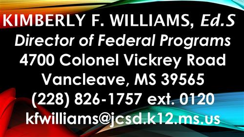 Federal Programs Director Kimberly F. Williams